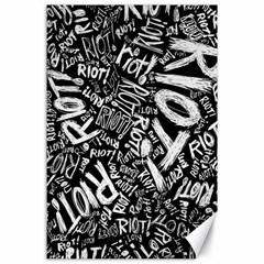 Panic At The Disco Lyric Quotes Retina Ready Canvas 24  X 36  by Onesevenart