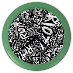 Panic At The Disco Lyric Quotes Retina Ready Color Wall Clocks by Onesevenart