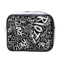 Panic At The Disco Lyric Quotes Retina Ready Mini Toiletries Bags by Onesevenart