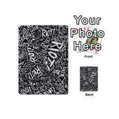 Panic At The Disco Lyric Quotes Retina Ready Playing Cards 54 (mini)  by Onesevenart
