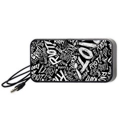 Panic At The Disco Lyric Quotes Retina Ready Portable Speaker (black) by Onesevenart