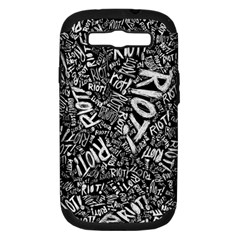 Panic At The Disco Lyric Quotes Retina Ready Samsung Galaxy S Iii Hardshell Case (pc+silicone) by Onesevenart