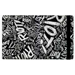 Panic At The Disco Lyric Quotes Retina Ready Apple Ipad 3/4 Flip Case by Onesevenart