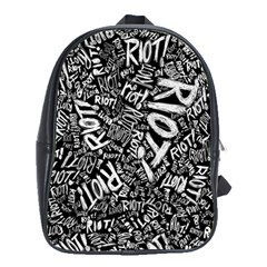 Panic At The Disco Lyric Quotes Retina Ready School Bag (xl) by Onesevenart