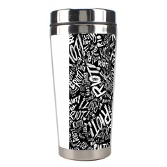 Panic At The Disco Lyric Quotes Retina Ready Stainless Steel Travel Tumblers by Onesevenart