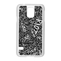 Panic At The Disco Lyric Quotes Retina Ready Samsung Galaxy S5 Case (white) by Onesevenart