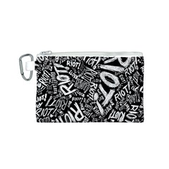 Panic At The Disco Lyric Quotes Retina Ready Canvas Cosmetic Bag (s) by Onesevenart