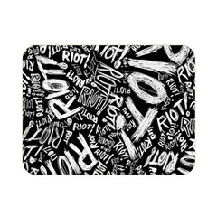 Panic At The Disco Lyric Quotes Retina Ready Double Sided Flano Blanket (mini)  by Onesevenart