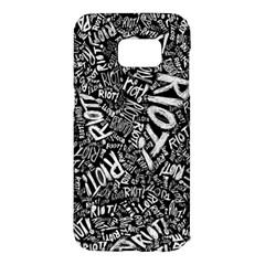 Panic At The Disco Lyric Quotes Retina Ready Samsung Galaxy S7 Edge Hardshell Case by Onesevenart