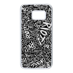 Panic At The Disco Lyric Quotes Retina Ready Samsung Galaxy S7 White Seamless Case by Onesevenart
