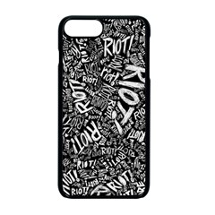 Panic At The Disco Lyric Quotes Retina Ready Apple Iphone 7 Plus Seamless Case (black) by Onesevenart