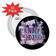 Panic At The Disco Art 2 25  Buttons (10 Pack)  by Onesevenart