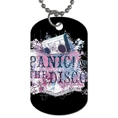 Panic At The Disco Art Dog Tag (one Side) by Onesevenart