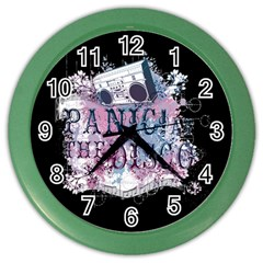 Panic At The Disco Art Color Wall Clocks by Onesevenart