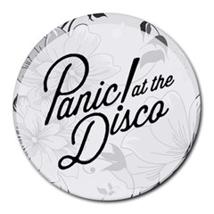 Panic At The Disco Flowers Round Mousepads by Onesevenart