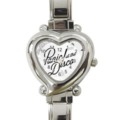 Panic At The Disco Flowers Heart Italian Charm Watch by Onesevenart