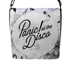 Panic At The Disco Flowers Flap Messenger Bag (l)  by Onesevenart