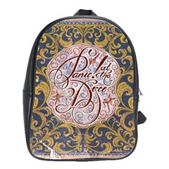 Panic! At The Disco School Bag (large) by Onesevenart