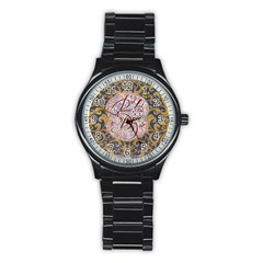 Panic! At The Disco Stainless Steel Round Watch by Onesevenart