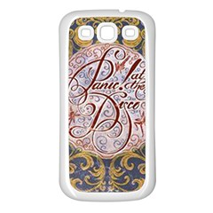 Panic! At The Disco Samsung Galaxy S3 Back Case (white) by Onesevenart