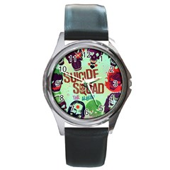 Panic! At The Disco Suicide Squad The Album Round Metal Watch by Onesevenart