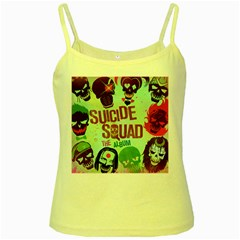 Panic! At The Disco Suicide Squad The Album Yellow Spaghetti Tank by Onesevenart