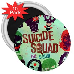 Panic! At The Disco Suicide Squad The Album 3  Magnets (10 Pack)  by Onesevenart