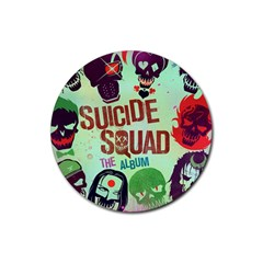 Panic! At The Disco Suicide Squad The Album Rubber Coaster (round)  by Onesevenart