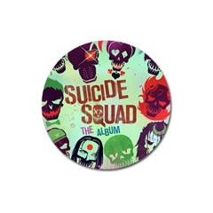 Panic! At The Disco Suicide Squad The Album Magnet 3  (round) by Onesevenart