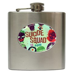 Panic! At The Disco Suicide Squad The Album Hip Flask (6 Oz) by Onesevenart