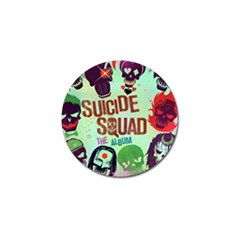 Panic! At The Disco Suicide Squad The Album Golf Ball Marker (4 Pack) by Onesevenart