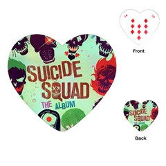 Panic! At The Disco Suicide Squad The Album Playing Cards (heart)  by Onesevenart