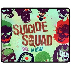 Panic! At The Disco Suicide Squad The Album Fleece Blanket (medium)  by Onesevenart