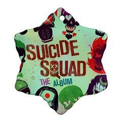 Panic! At The Disco Suicide Squad The Album Ornament (snowflake) by Onesevenart