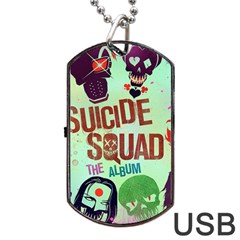 Panic! At The Disco Suicide Squad The Album Dog Tag Usb Flash (one Side) by Onesevenart