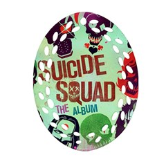 Panic! At The Disco Suicide Squad The Album Oval Filigree Ornament (two Sides) by Onesevenart