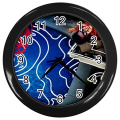 Panic! At The Disco Released Death Of A Bachelor Wall Clocks (black) by Onesevenart