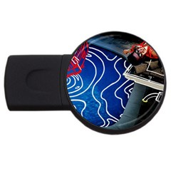 Panic! At The Disco Released Death Of A Bachelor Usb Flash Drive Round (2 Gb) by Onesevenart