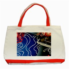 Panic! At The Disco Released Death Of A Bachelor Classic Tote Bag (red) by Onesevenart
