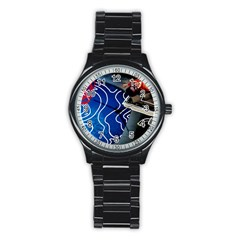 Panic! At The Disco Released Death Of A Bachelor Stainless Steel Round Watch by Onesevenart