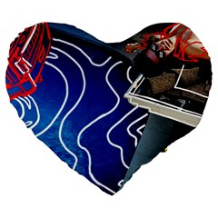 Panic! At The Disco Released Death Of A Bachelor Large 19  Premium Flano Heart Shape Cushions by Onesevenart