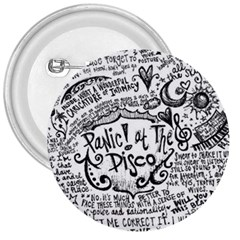 Panic! At The Disco Lyric Quotes 3  Buttons by Onesevenart