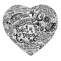 Panic! At The Disco Lyric Quotes Ornament (heart) by Onesevenart