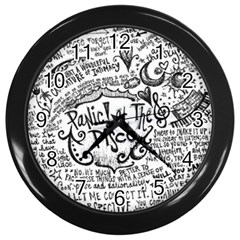 Panic! At The Disco Lyric Quotes Wall Clocks (black) by Onesevenart