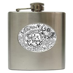 Panic! At The Disco Lyric Quotes Hip Flask (6 Oz) by Onesevenart
