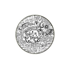 Panic! At The Disco Lyric Quotes Hat Clip Ball Marker (4 Pack) by Onesevenart