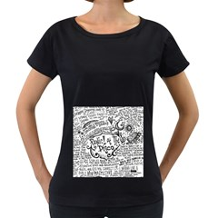 Panic! At The Disco Lyric Quotes Women s Loose Fit T Shirt (black) by Onesevenart