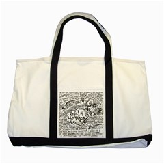 Panic! At The Disco Lyric Quotes Two Tone Tote Bag by Onesevenart
