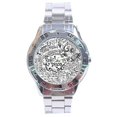 Panic! At The Disco Lyric Quotes Stainless Steel Analogue Watch by Onesevenart