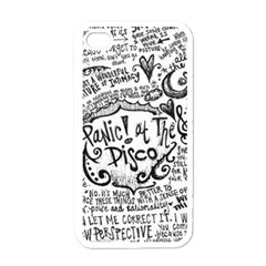 Panic! At The Disco Lyric Quotes Apple Iphone 4 Case (white) by Onesevenart